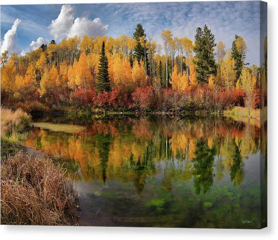 Autumn At Its Best Canvas Print by Leland D Howard