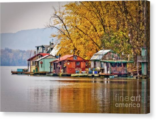 Canvas Print featuring the photograph Autumn At Latsch Island by Kari Yearous