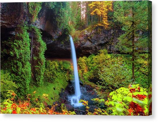 Autumn At North Falls Canvas Print