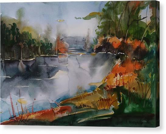 Autumn At The Lake Canvas Print by Stefano Popovski
