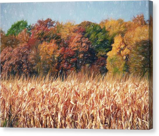 Autumn Cornfield Canvas Print