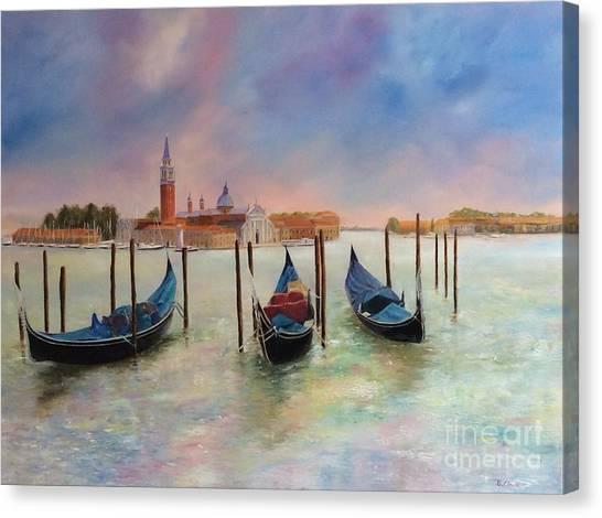 Autumn Evening On Venice Canvas Print