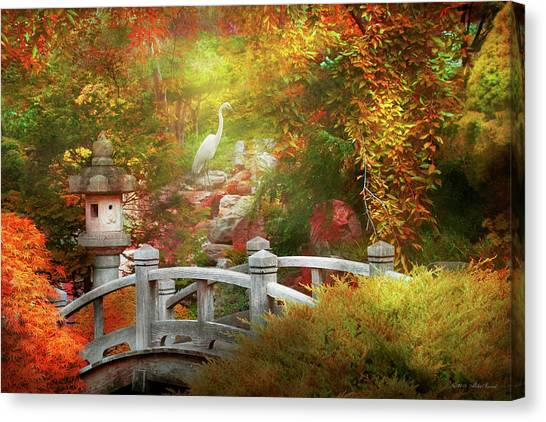 Canvas Print featuring the photograph Autumn - Finding Inner Peace by Mike Savad