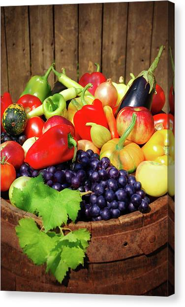 Autumn Fruit And Vegetables Canvas Print
