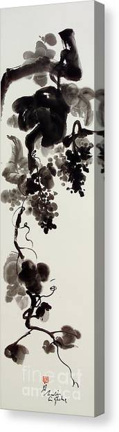 Autumn Grape Vine Painting Canvas Print by Nadja Van Ghelue