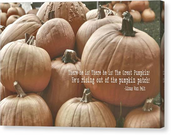Autumn Harvest Quote Canvas Print by JAMART Photography