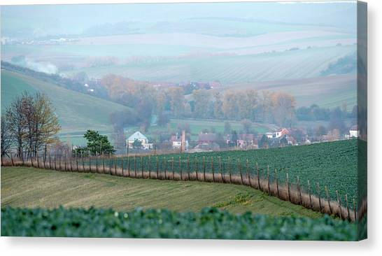 Canvas Print featuring the photograph Autumn In Moravia 6 by Dubi Roman