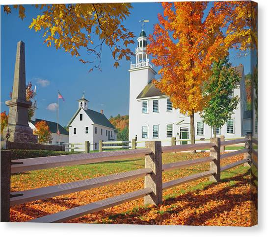 Autumn In New Hampshire Canvas Print by Ron thomas