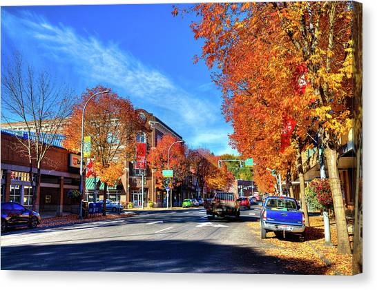 Canvas Print featuring the photograph Autumn In Pullman by David Patterson