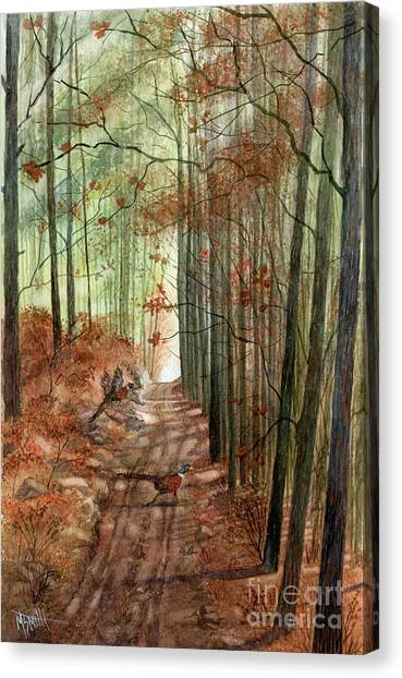 Canvas Print - Autumn In The Air by Marilyn Smith