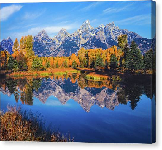 Autumn In The Snake River Valley Grand Canvas Print by Ron thomas