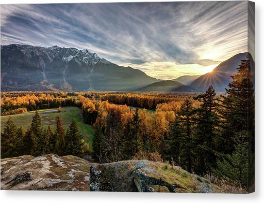 Canvas Print featuring the photograph Autumn In The Valley Of Pemberton by Pierre Leclerc Photography