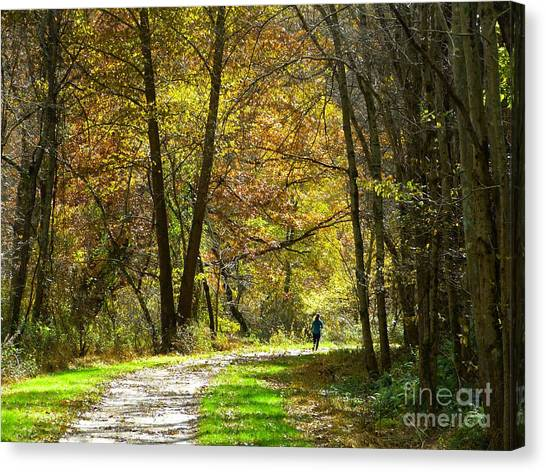 Autumn Jogger Canvas Print