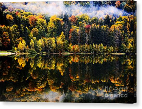 Change Canvas Print - Autumn Landscape In The Mountains - St by Aaltair