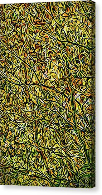 Canvas Print featuring the digital art Autumn Leaves Abstract by Joel Bruce Wallach