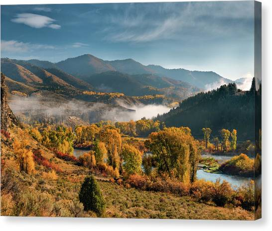 Autumn Light Along The Snake River Canvas Print