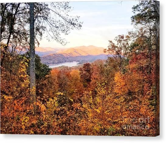 Canvas Print featuring the photograph Autumn Magic by Rachel Hannah