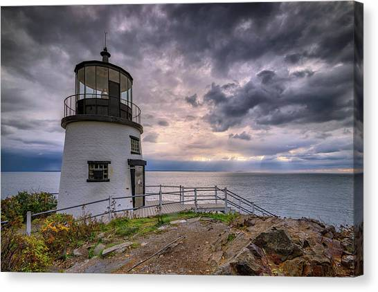 Canvas Print featuring the photograph Autumn Morning At Owls Head by Rick Berk