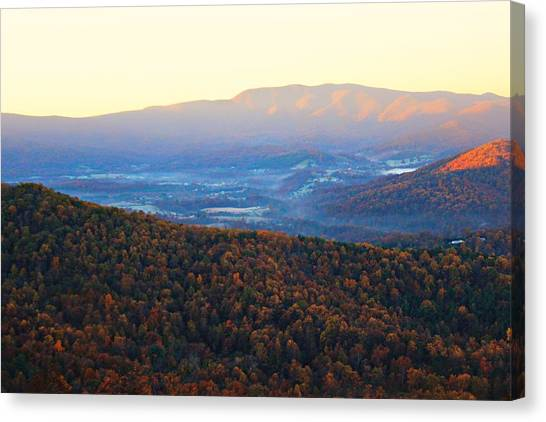 Canvas Print featuring the photograph Autumn Mountains  by Candice Trimble