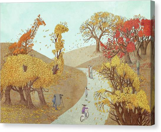 Tree Canvas Print - Autumn Park by Eric Fan