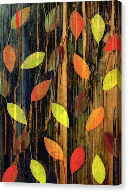 Autumn Season Leaves Canvas Print by Jupiterimages