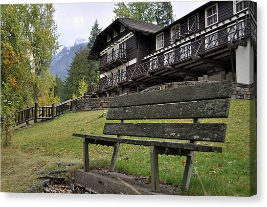 Autumn Silence At Lake Mcdonald Lodge In Glacier National Park Canvas Print