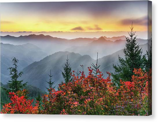 Altitude Canvas Print - Autumn Tillamook View by Leland D Howard