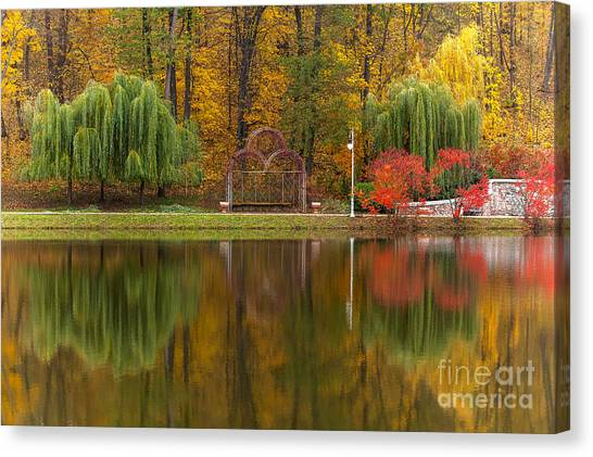 Autumn Tints Of Nature,park In Autumn Canvas Print by Photosite