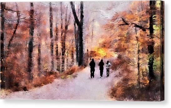 Autumn Walkers Canvas Print