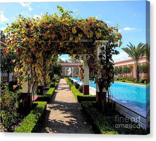 J Paul Getty Canvas Print - Awesome J Paul Getty Villa Pacific Palisades California  by Chuck Kuhn