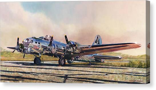 B-17g Sentimental Journey Canvas Print