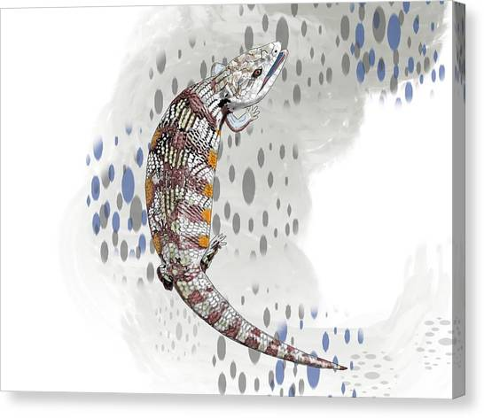 Canvas Print - B Is For Blue Tongue Lizard by Joan Stratton