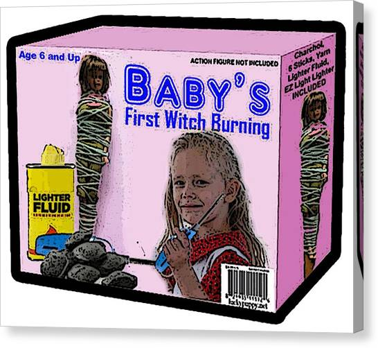 Baby's First Witch Hunt Canvas Print