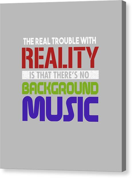 Background Music Canvas Print