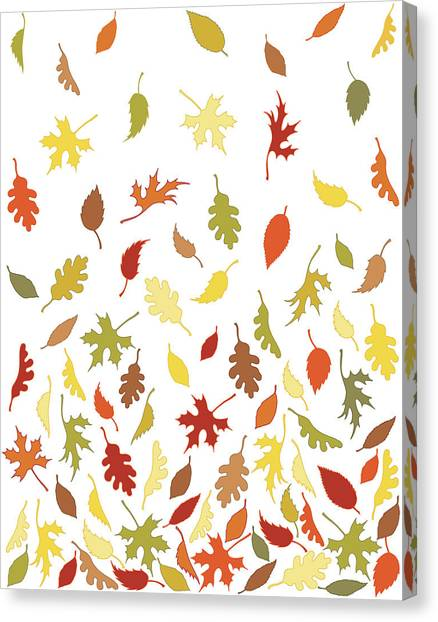 Background Pattern Of Falling Autumn Canvas Print by Photos.com