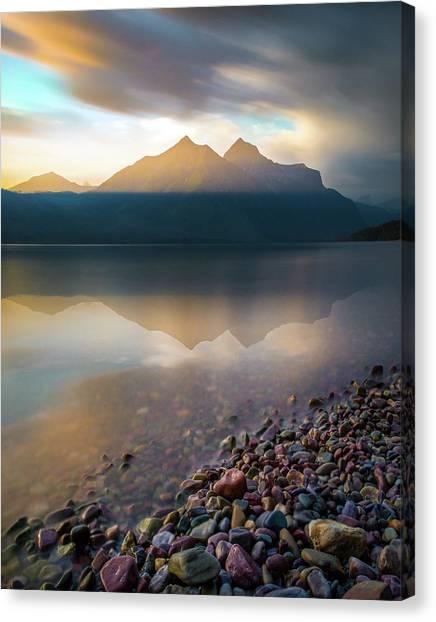 Backlit / Lake Mcdonald, Glacier National Park  Canvas Print