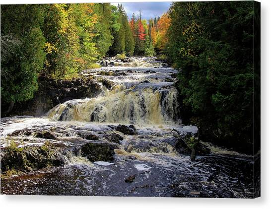 Bad River Cascade Canvas Print