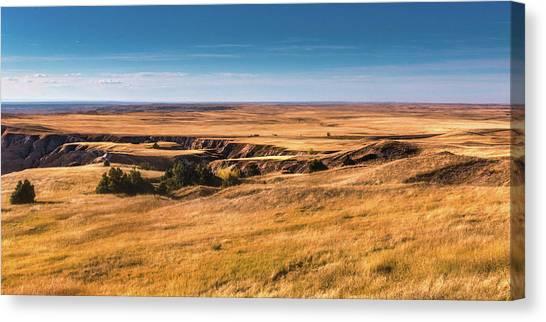 South Dakota Canvas Print - Badlands by Tom Mc Nemar