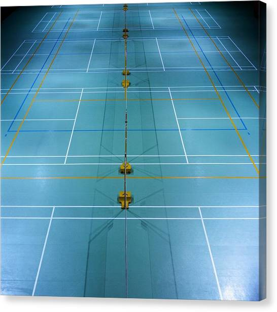 Badminton Court Canvas Print