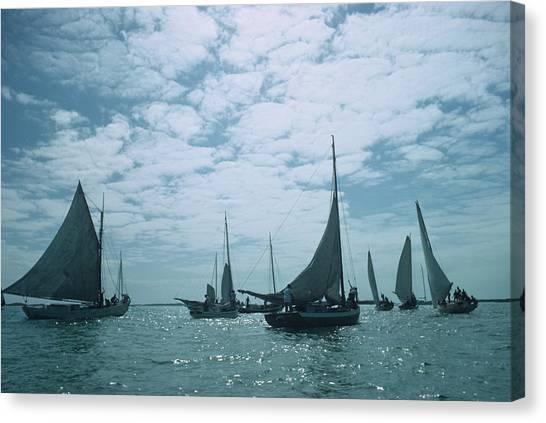 Bahamas Sailing Canvas Print by Slim Aarons