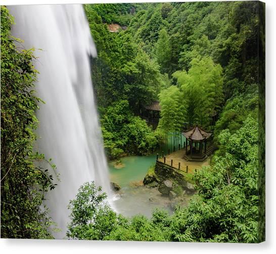 Baiyun Waterfall Canvas Print