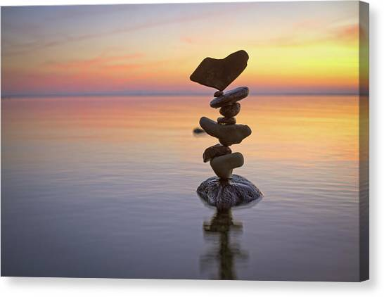 Balancing Art #1 Canvas Print