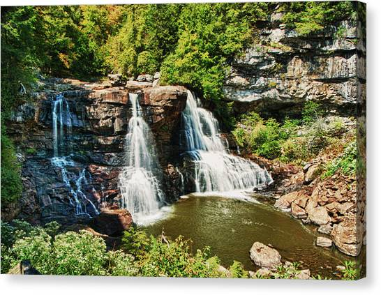 Balckwater Falls - Wide View Canvas Print
