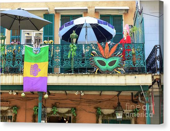 Balcony Party New Orleans Canvas Print by John Rizzuto