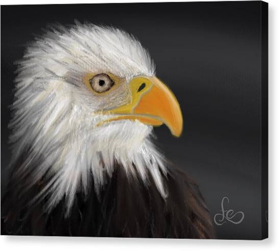 Canvas Print featuring the pastel Bald Eagle by Fe Jones