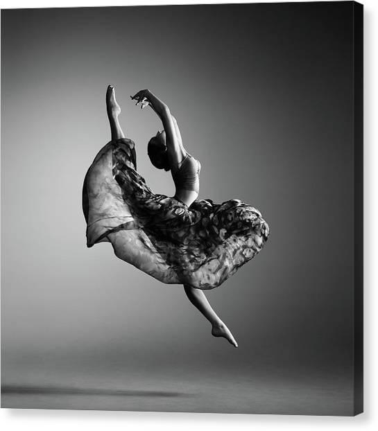 Canvas Print - Ballerina Jumping by Johan Swanepoel