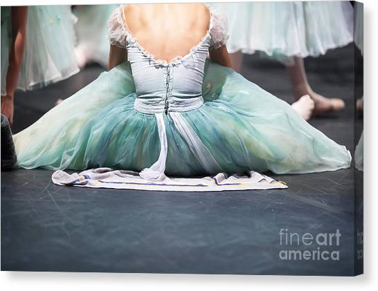 Performing Canvas Print - Ballerinas In The Movement. Behind The by Melnikof