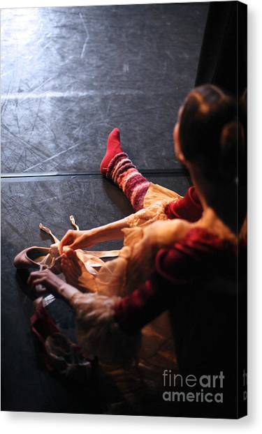 Performing Canvas Print - Ballet Behind The Scenes by Anna Jurkovska