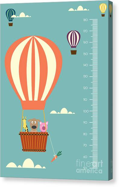 Illustration Canvas Print - Balloon Cartoons ,meter Wall Or Height by Isaree