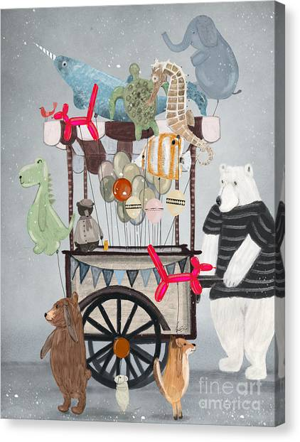 Woodland Canvas Print - Balloon Fair by Bri Buckley